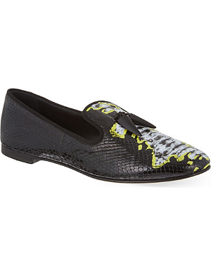 GIUSEPPE ZANOTTI Sierre embossed leather loafers