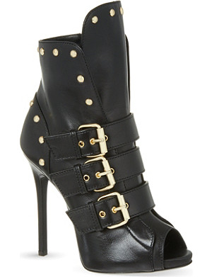 GIUSEPPE ZANOTTI Guinea buckle heeled ankle boots