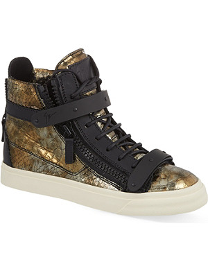 GIUSEPPE ZANOTTI Sahara metallic high top trainers