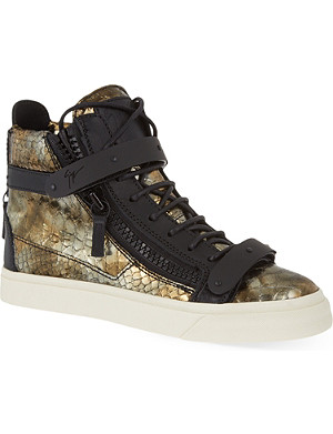 GIUSEPPE ZANOTTI Sahara metallic high-top trainers
