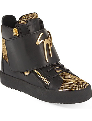 GIUSEPPE ZANOTTI Embellished high top trainers