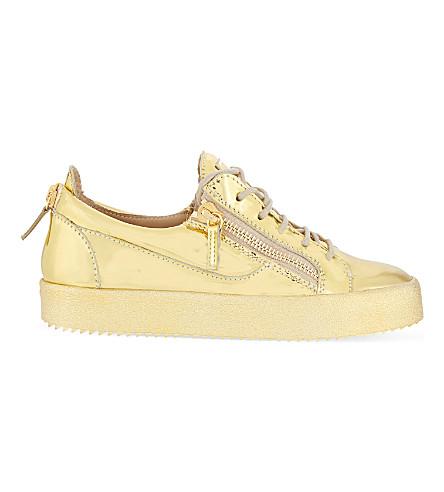 GIUSEPPE ZANOTTI Yamou lace-up trainers (Gold