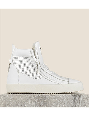 GIUSEPPE ZANOTTI Monrovia zipped high-top trainers