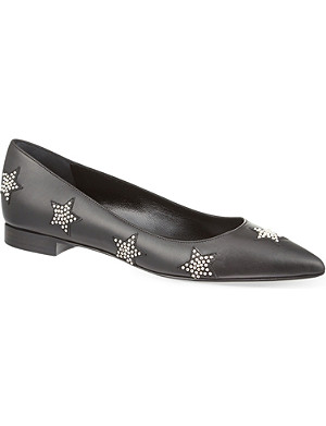 SAINT LAURENT Paris Flat Star flats