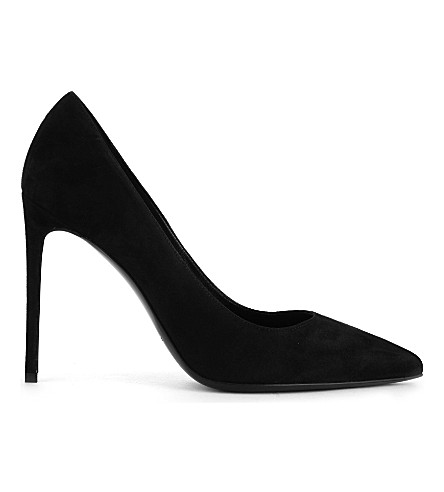 SAINT LAURENT Paris suede courts (Black