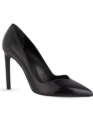 SAINT LAURENT Paris 105 leather court shoes