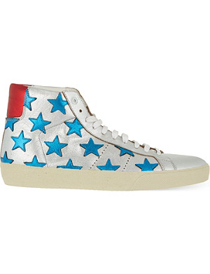 SAINT LAURENT Court classic star high top trainers