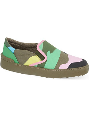 VALENTINO Psychedelic camo skate shoes