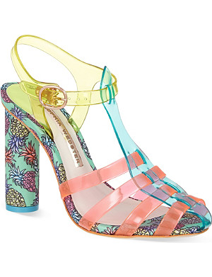 SOPHIA WEBSTER Rosa pineapple heeled sandals