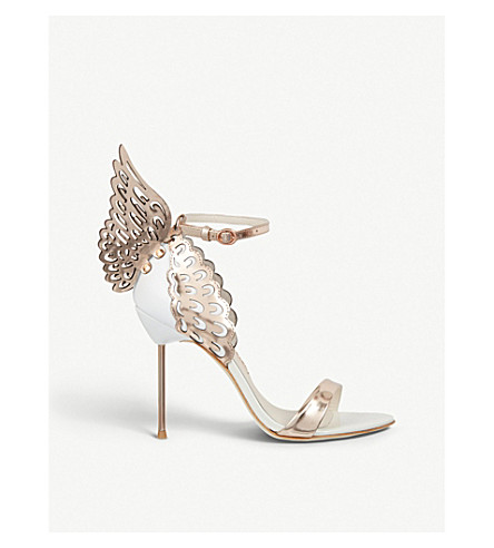 SOPHIA WEBSTER Evangeline winged heeled sandals (White