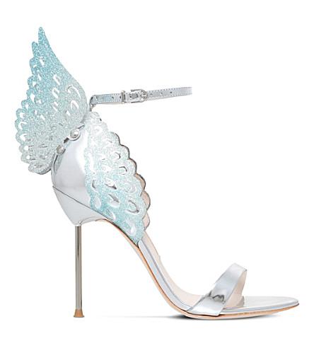 SOPHIA WEBSTER Evangeline leather heeled sandals (Silver com