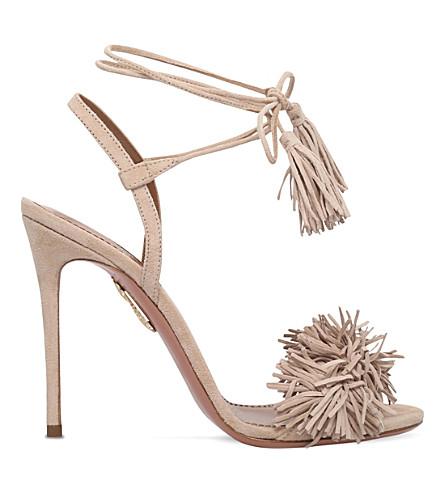 AQUAZZURA Wild Thing fringed suede sandals