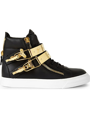 GIUSEPPE ZANOTTI Double strap high-top trainers