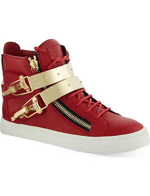 GIUSEPPE ZANOTTI Ski double bangle leather high-top trainers