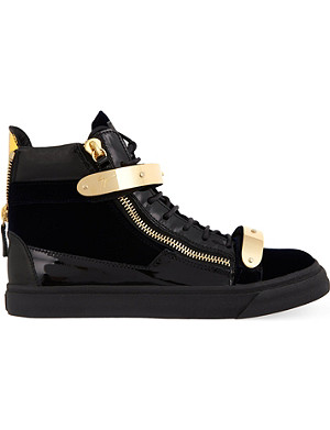 GIUSEPPE ZANOTTI Snare plain high-top trainers