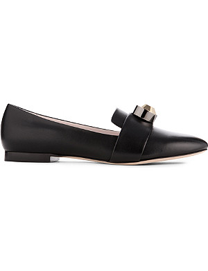 CHRISTOPHER KANE Giant crystal leather loafers