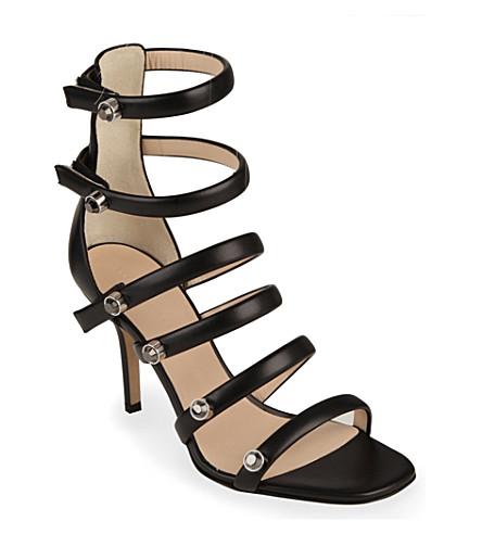 CHRISTOPHER KANE Crystal-Embellished Multi-Strap Leather Sandals
