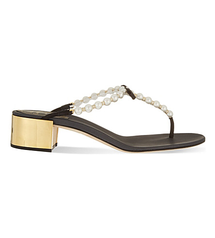 RENE CAOVILLA Banbury t-bar sandals (Black