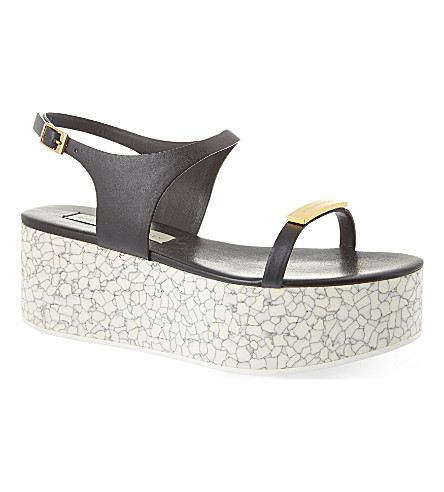 STELLA MCCARTNEY Bonington platform sandals (Black