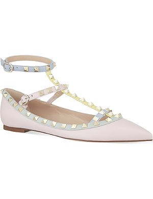 VALENTINO Watercolour t-bar flats