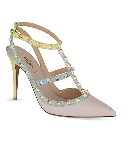 VALENTINO Watercolour 100 heeled sandals (Pink comb