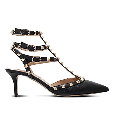 VALENTINO Rockstud 65 leather courts (Black