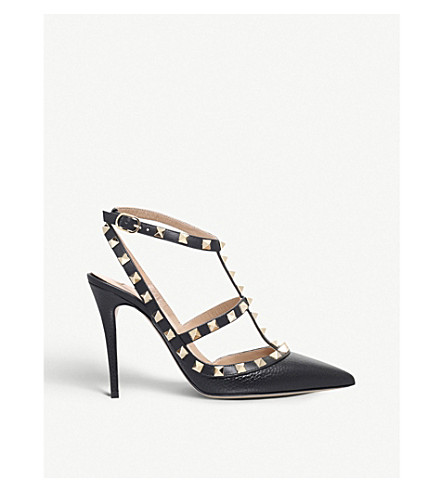 VALENTINO Rockstud 100 leather courts (Black