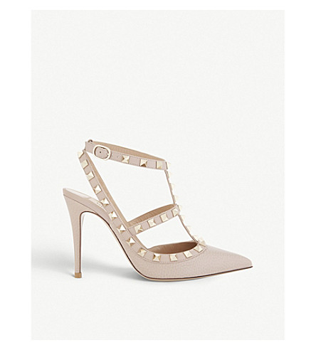 VALENTINO Rockstud 100 leather courts (Nude