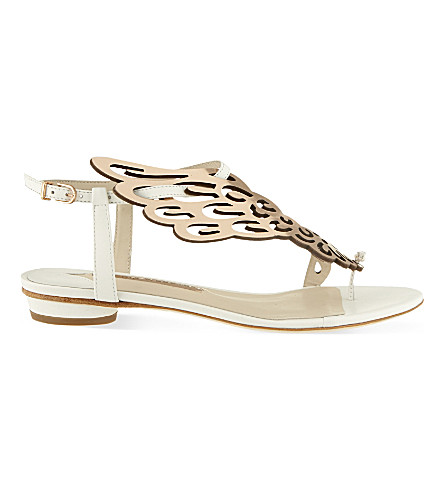SOPHIA WEBSTER Seraphina leather sandals (White/oth