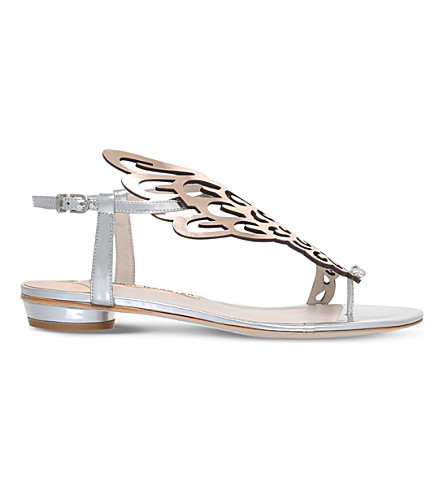 SOPHIA WEBSTER Seraphina metallic leather sandals (Silver