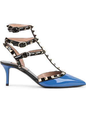 VALENTINO Rockstud 65 patent-leather heeled courts