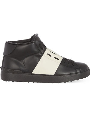 VALENTINO Contrast Leather High-top trainers