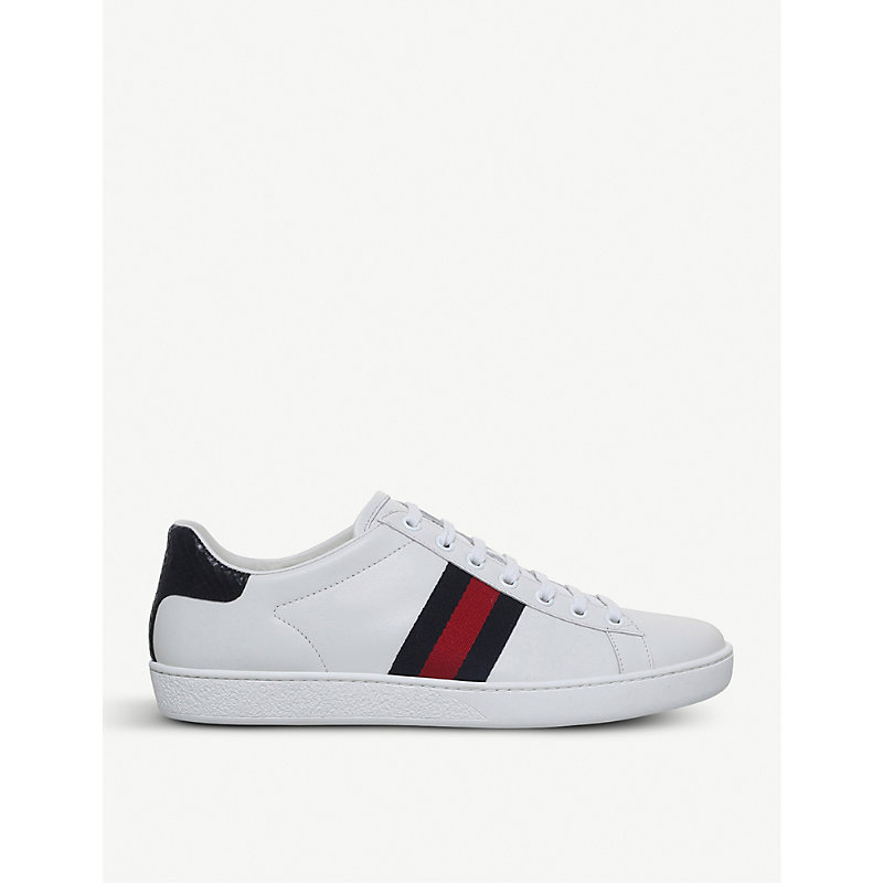 GUCCI   New Ace Leather Trainers   Goxip
