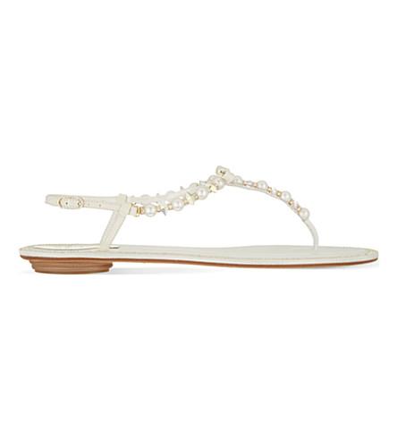 RENE CAOVILLA Amber t-bar sandals (White