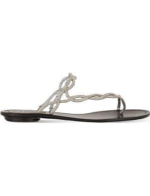 RENE CAOVILLA Asymmetrical flat sandals