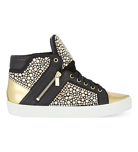 GINA Alessia crystal high-top trainers (Blk/other