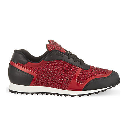GINA Luminosa swarovski trainers (Red