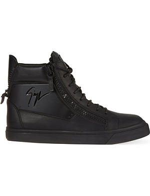 GIUSEPPE ZANOTTI Leather high-top trainers