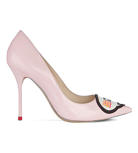 SOPHIA WEBSTER Boss Lady patent-leather pumps (Pink