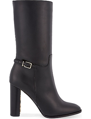 BURBERRY Marling leather heeled boots