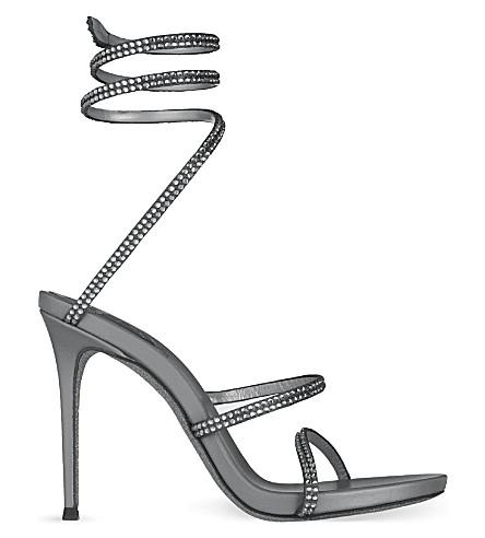 RENE CAOVILLA Seraphinite 105 heeled sandals (Grey/dark