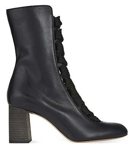 CHLOE Harper 70 lace-up boots (Black