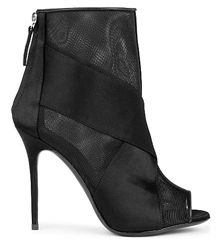 GIUSEPPE ZANOTTI Mistico mesh-panel heeled ankle boots (Black
