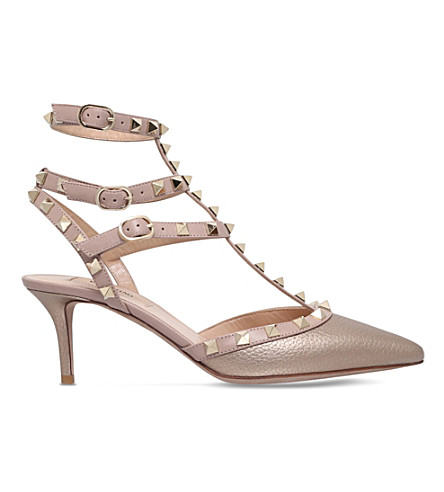 VALENTINO Rockstud 65 leather courts (Bronze