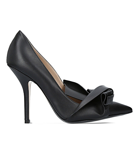 NO 21 Tie knot leather courts (Black