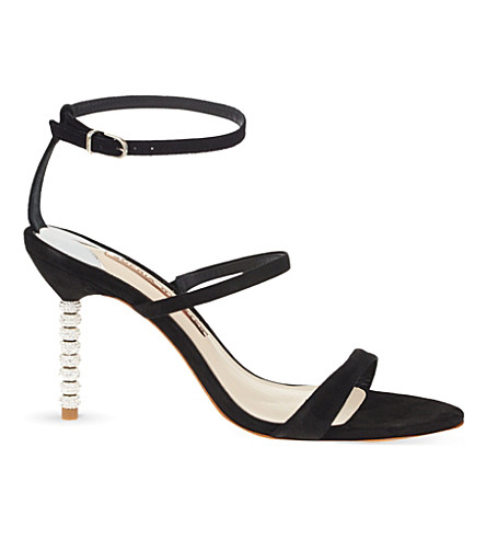 SOPHIA WEBSTER Rosalind suede heeled sandals (Black