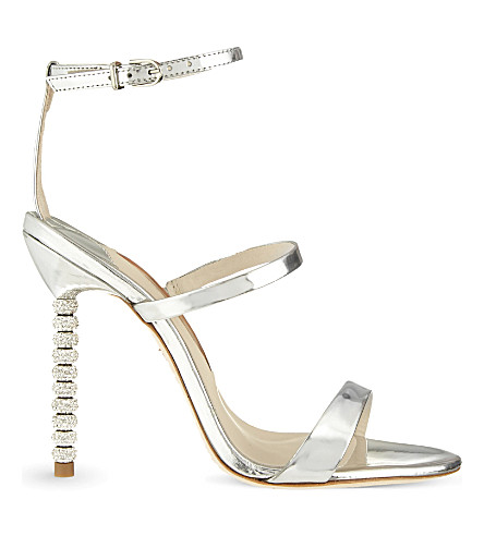 SOPHIA WEBSTER Rosalind crystal heeled sandals (Silver
