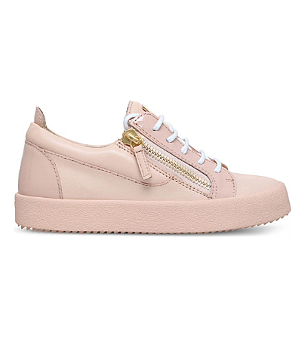 GIUSEPPE ZANOTTI Bucks low-top leather trainers (Nude