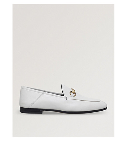 GUCCI Brixton leather loafers (White