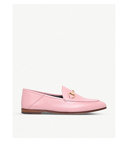 ... GUCCI Brixton leather loafers (Pale+pink. PreviousNext e3ab6c6948b9